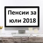 Изплащане на преизчислените пенсии за юли 2018