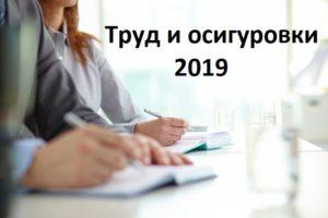 труд и осигуровки 2019